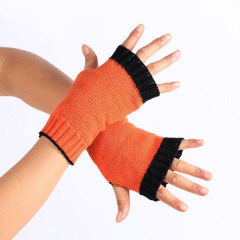 Unique Double Color Knitted Fingerless Gloves JACINTH