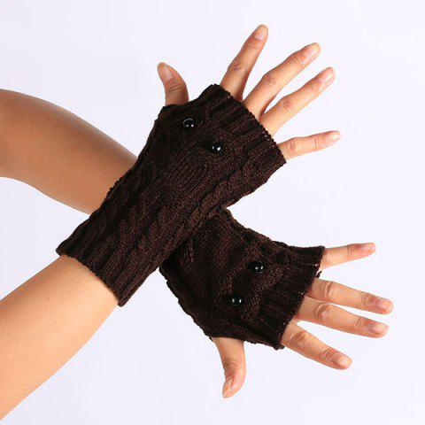 Unique Twist Knitted Owl Fingerless Gloves