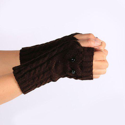 Shops Twist Knitted Owl Fingerless Gloves - COFFEE  Mobile