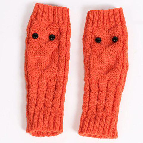Shop Twist Knitted Owl Fingerless Gloves - JACINTH  Mobile