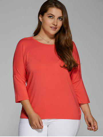 Store Plus Size Batwing Sleeve High Low T-Shirt