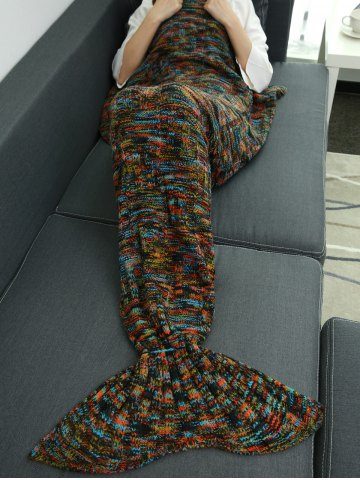 Sale Warmer Thicken Knitted Sleeping Bag Mermaid Blanket Throw - COLORMIX  Mobile