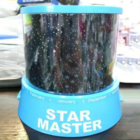 Trendy Starry Star Master Gift Led Unique Design Projector Multi Colors Night Light - BLUE  Mobile