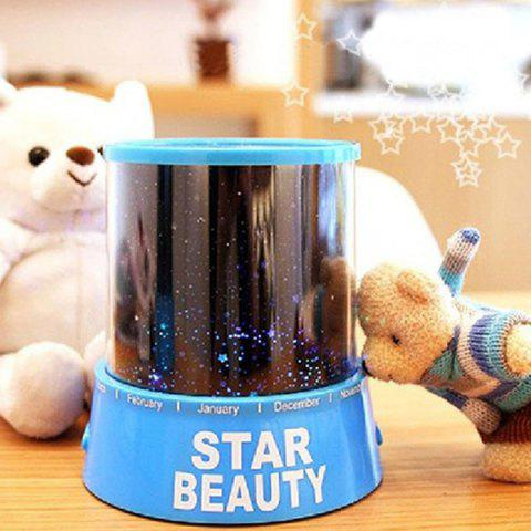 New Starry Star Master Gift Led Unique Design Projector Multi Colors Night Light - BLUE  Mobile