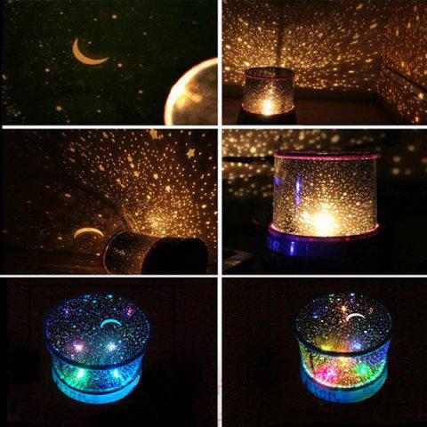 Cheap Starry Star Master Gift Led Unique Design Projector Multi Colors Night Light - BLUE  Mobile