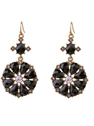 Shop Rhinestone Flower Water Drop Earrings