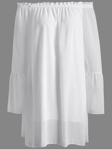 Off The Shoulder Loose-Fitting Chiffon Dress - WHITE XL