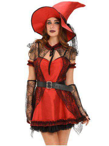 Best Lace Splicing Witch Halloween Cosplay Dress