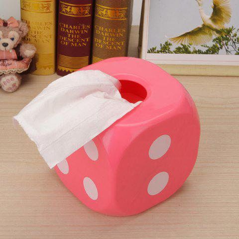 Best Household Dice Shape Extractive Tissue Storage Box PINK