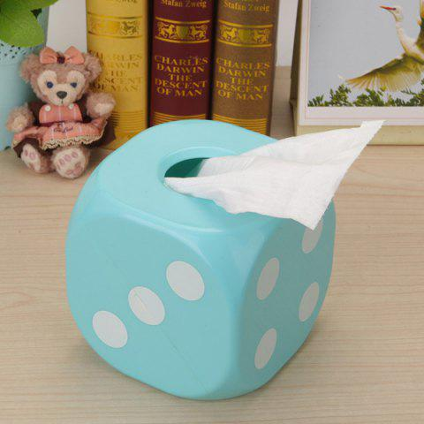 Shops Household Dice Shape Extractive Tissue Storage Box BLUE