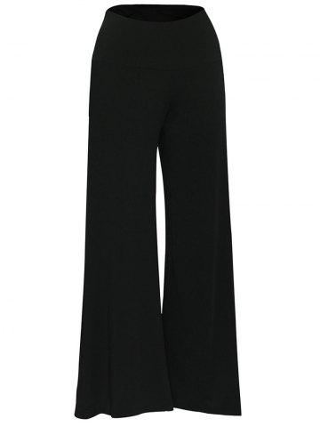 Hot Elastic Waistband Palazzo Scrub Pants BLACK XL