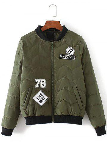 Fancy Patched Bomber Jacket