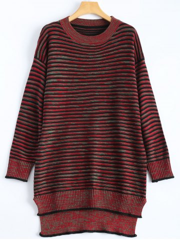 Trendy Plus Size Striped Sweater Dress