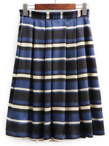 New High Waisted Stripe Skirt