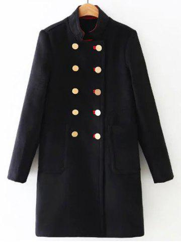 Online Long Double Breasted Woolen Coat