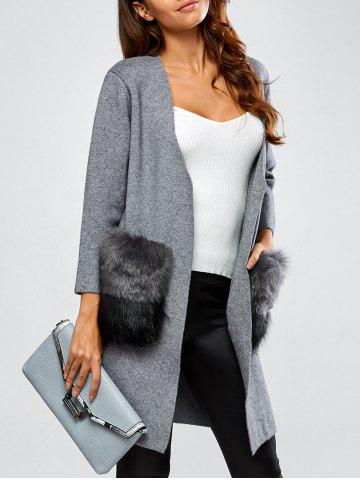 Outfits Open Front Pockets Cardigan