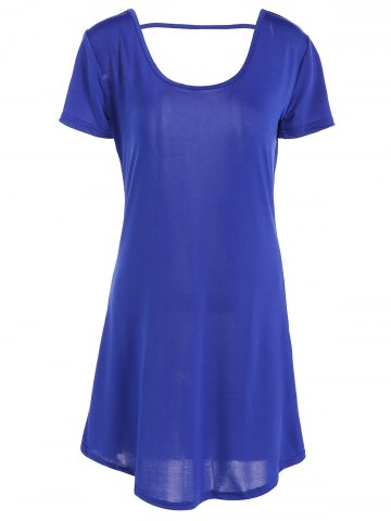 Store Hollow Out Tunic Tee Casual Dress