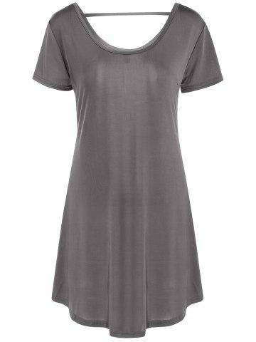 Hot Hollow Out Tunic Tee Casual Dress