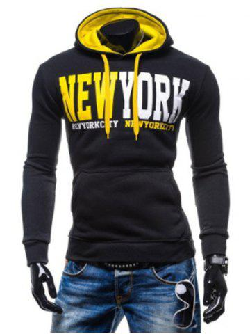 Hot New York Printed Kangaroo Pocket Pullover Hoodie