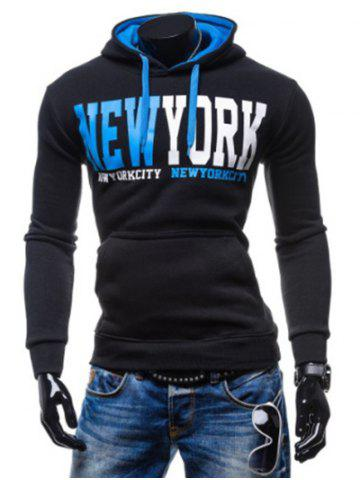 New New York Printed Kangaroo Pocket Pullover Hoodie