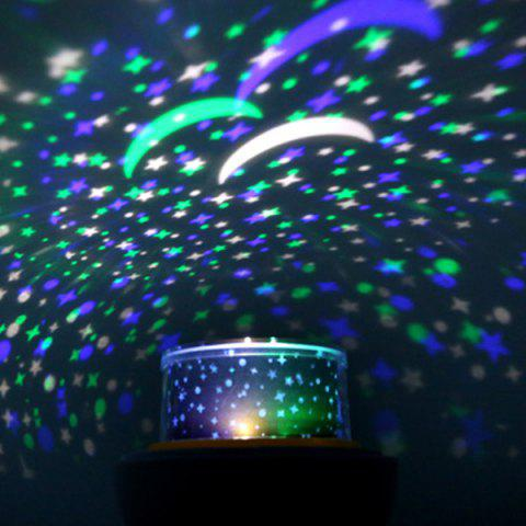 Trendy USB 360° Rotating Star Sky Projection Night Light WHITE