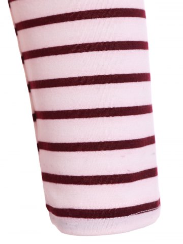 Store Scoop Neck Striped Back Patchwork T-Shirt - M RED Mobile