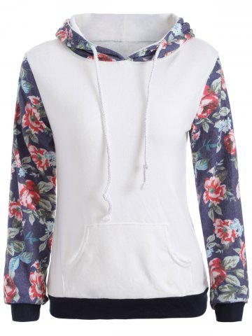 New Pocket Floral Hoodie WHITE XL