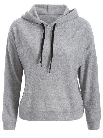 Outfits Casual Back Slit Hoodie
