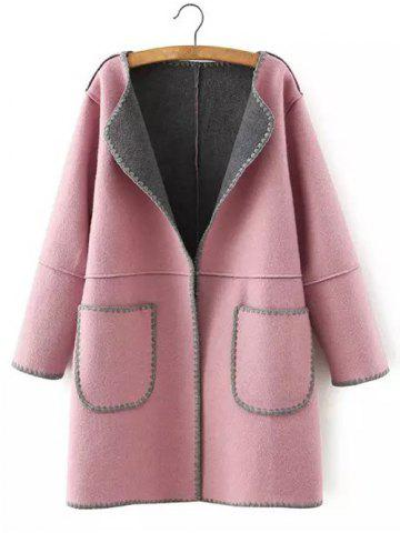 New Wool Pockets Plus Size Coat