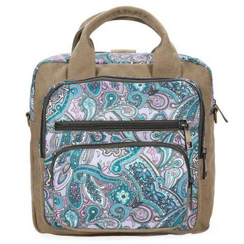 Affordable Ethnic Style Canvas Paisley Print Backpack
