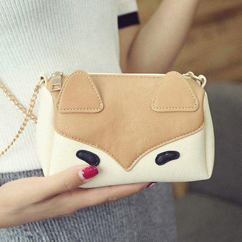 Chains Cartoon Color Block Crossbody Bag - Brown - Size(40-41)