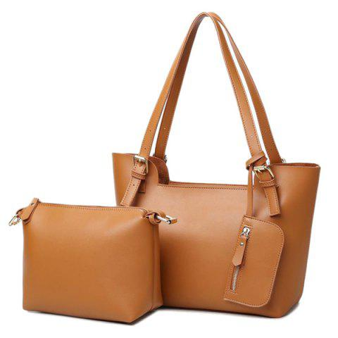Shops Buckle Straps PU Leather Shoulder Bag