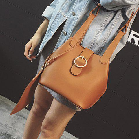 Store PU Leather Metal Buckle Crossbody Bag