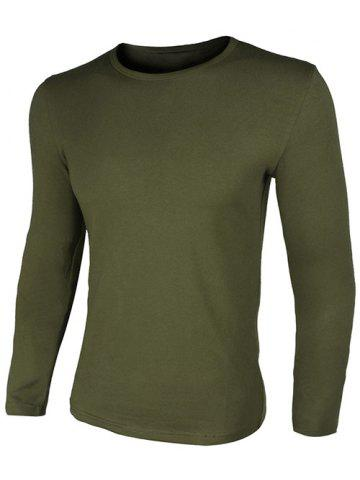 Outfits Crew Neck Simple Slimming Long Sleeve T-Shirt
