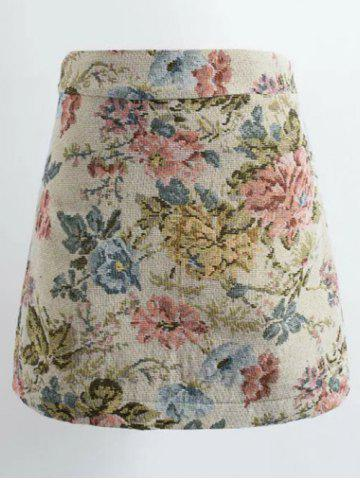 Chic Floral Jacquard Winter Skirt