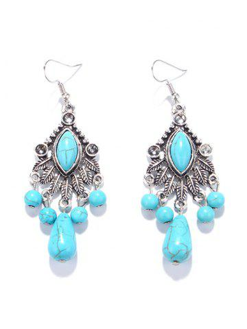 Outfit Zircon Turquoise Chandelier Earrings TURQUOISE GREEN