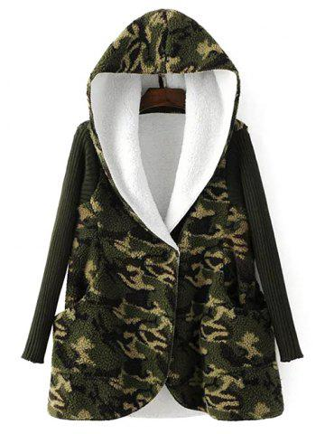 Shop Hooded Fleece Camo Coat
