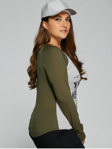 Outfit Plus Size Raglan Sleeve Graphic Christmas T Shirt - L LIGHT GRAY Mobile