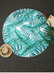 Tropical Plant Print Round Blanket Throw