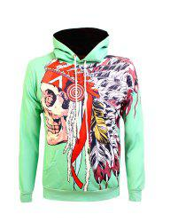 Kangaroo Pocket Drawstring Eyelet Graphic Hoodie -
