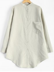 Linen Loose Pocket Shirt -