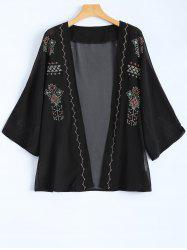 Embroidered Vintage Chiffon Jacket -