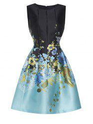 Embroidered Vintage Fit and Flare Dress -