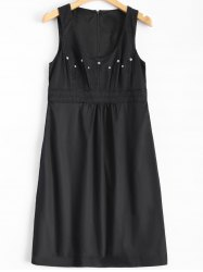 Embroidered Buttoned Vintage Dress -