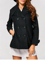 Fitting Woolen Pea Coat