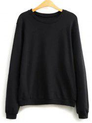 Plain Loose Sweatshirt