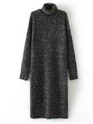 Turtle Neck Long Jumper Dress with Sleeves -