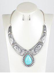 Faux Turquoise Water Drop Jewelry Set