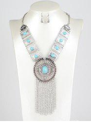 Round Chain Fringe Jewelry Set