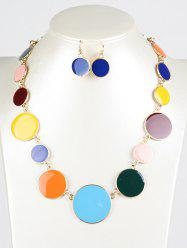 Faux Gem ronde Ensemble de bijoux - Multicolore
